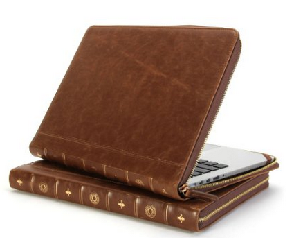 book vintage housse protection macbook