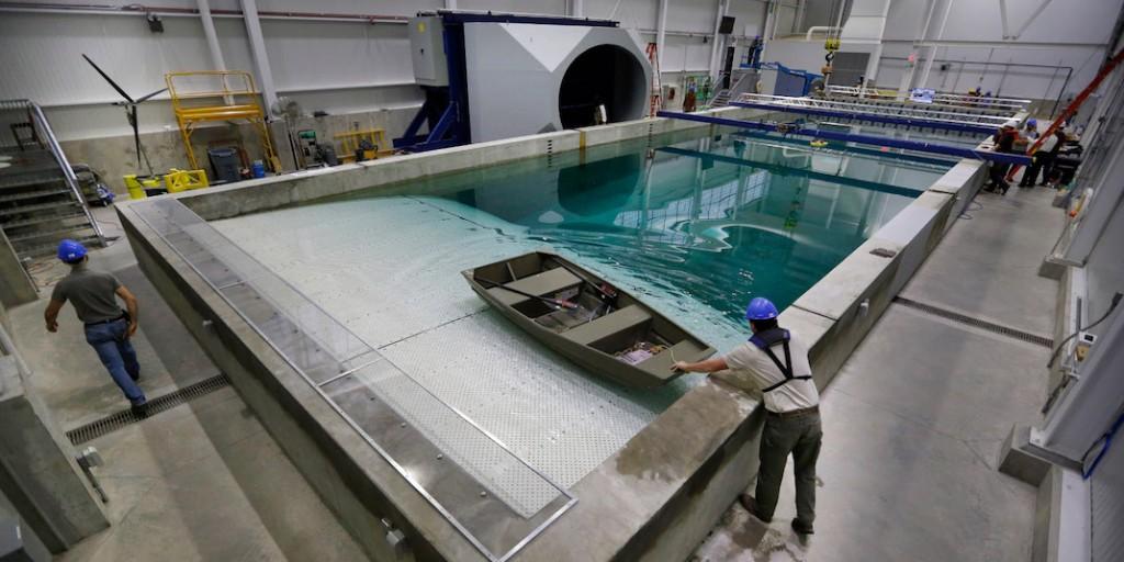 Simulateur océan pour bateau