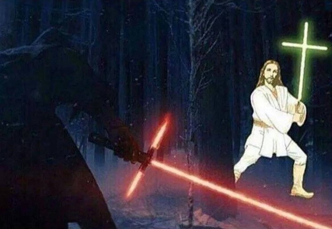 Star Wars vs Jesus : les sabres laser