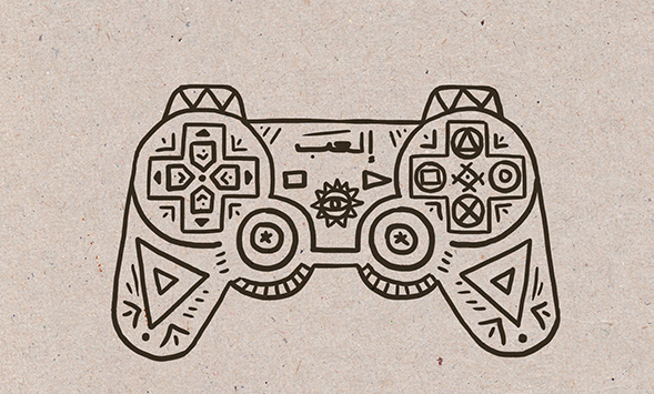Playstation manette dessin infographie