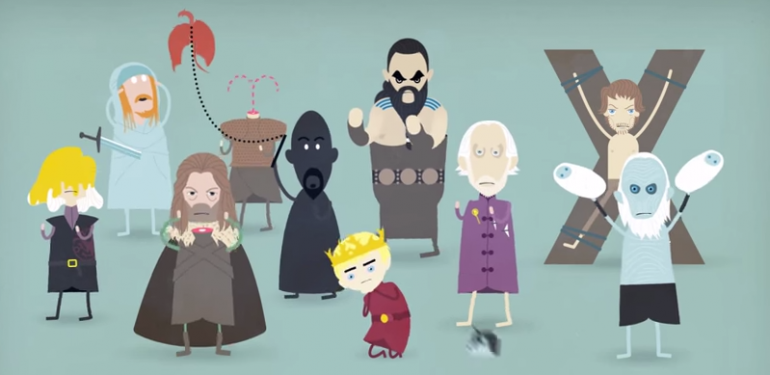 game of thrones dessin infographie minimaliste