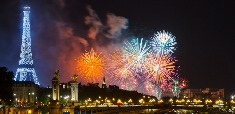 Feu d'artifice du 14 juillet à Paris