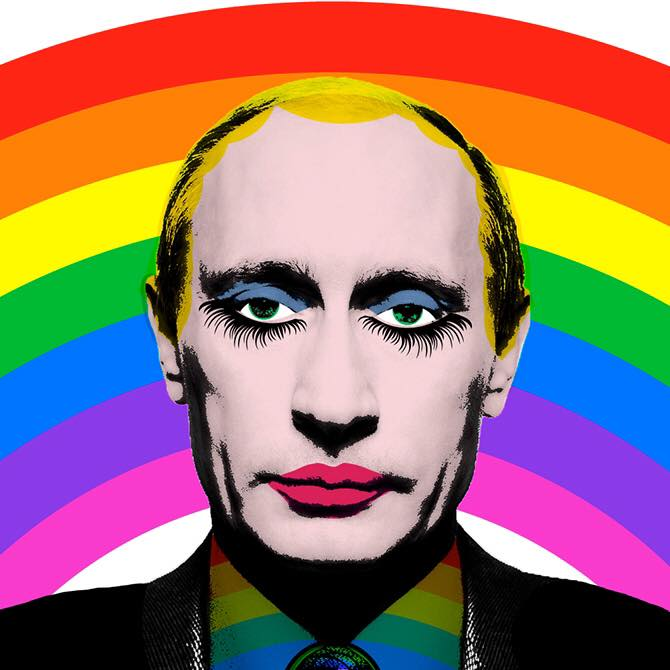 Vladimir poutine en pop art