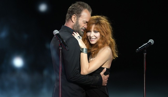 Mylene Farmer duo avec sting