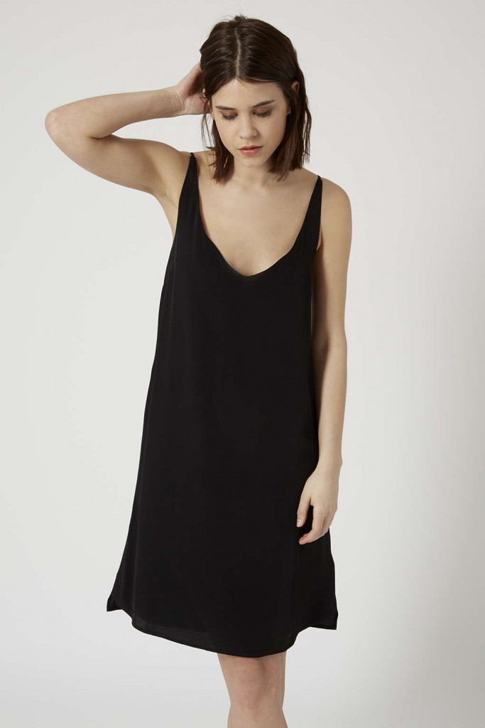 La slip dress de Topshop disponible sur la boutique en ligne Topshop