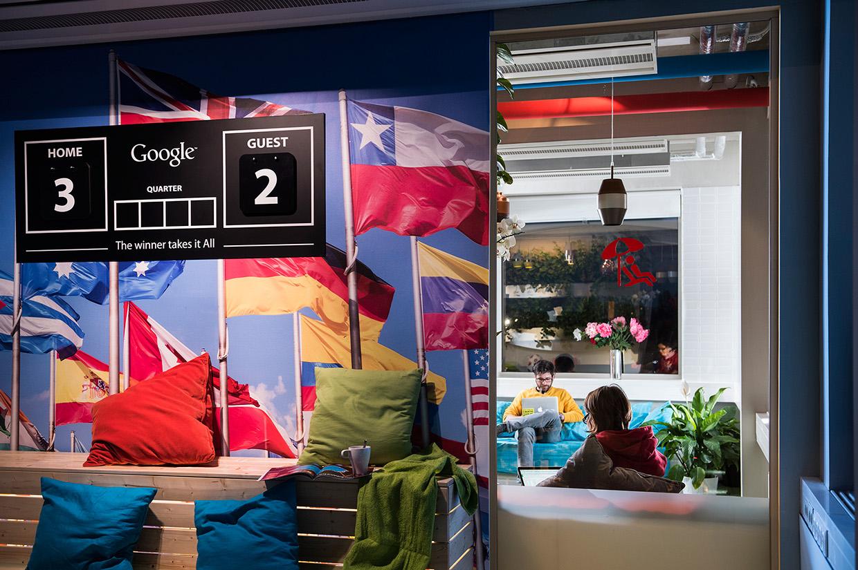 Les bureaux de Google, à Budapest en Hongrie