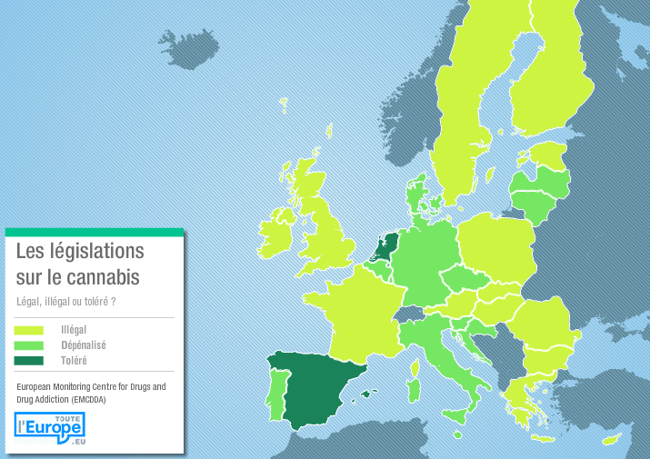 Pays d'Europe cannabis légal