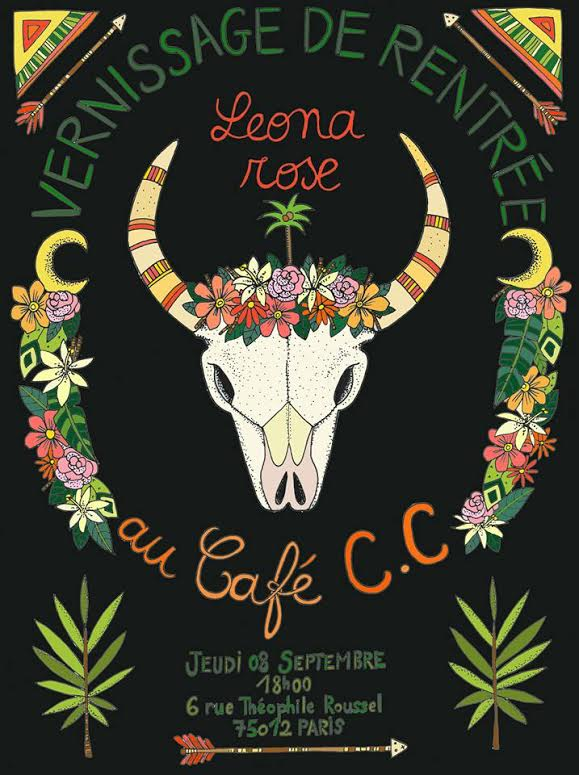 Léona Rose expose au CC Coffee shop à Paris